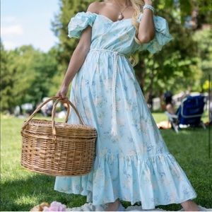 LoveShackFancy Estelle Puff Sleeve Maxi Dress NWT
